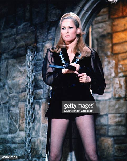 Swiss actress Ursula Andress as Vesper Lynd in the spy spoof 'Casino Royale' 1967
