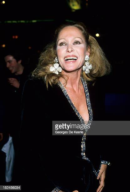 Swiss actress Ursula Andress at the stage premiere of Cameron Mackintosh's production of 'Les Miserables' London December 1985
