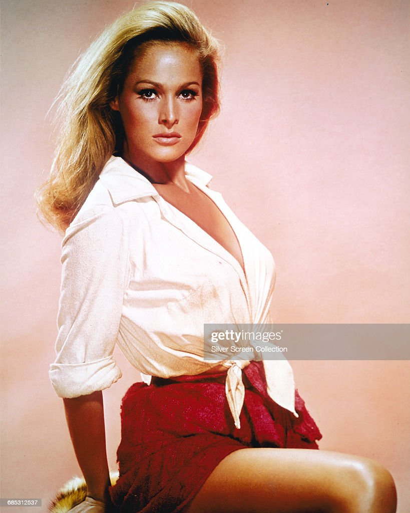 Swiss actress Ursula Andress, circa 1965.