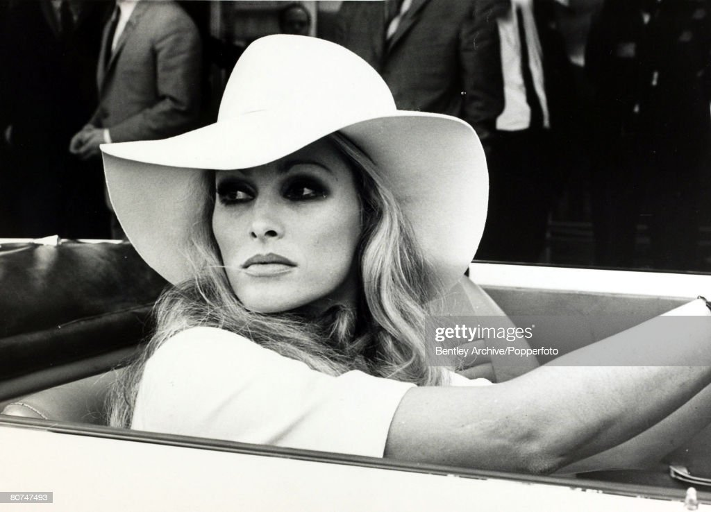 Cinema Personalities pic: 18th September 1969. Actress Ursula Andress, born 1936, in Switzerland, pictured at the wheel of a car. Ursula Andress first came to prominence when the glamorous blond haired actress appeared bikini clad in the 1962 James Bond : News Photo