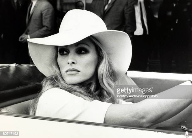 18th September 1969 Actress Ursula Andress born 1936 in Switzerland pictured at the wheel of a car Ursula Andress first came to prominence when the...