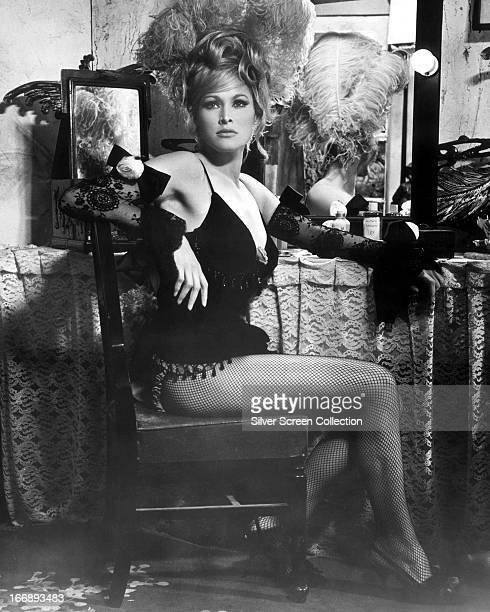 Swiss actress Ursula Andress in a promotional portrait for 'Les Tribulations d'un Chinois En Chine' aka 'Up to his Ears' aka 'Chinese Adventures in...