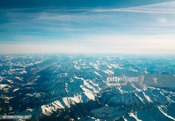 Swiss Alps, aerial view