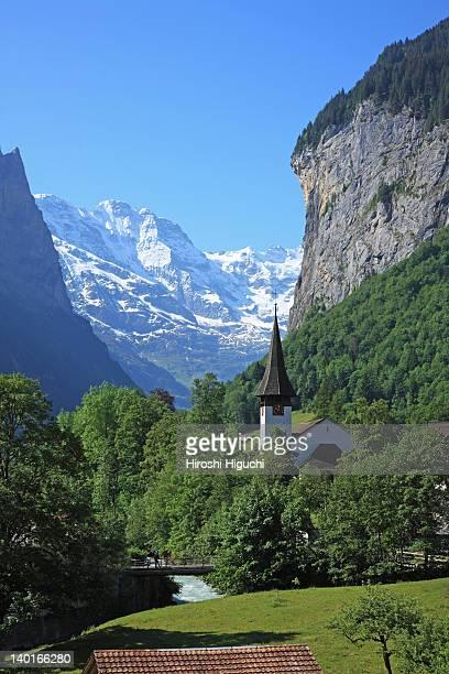 swiss alps, lauterbrunnen - lauterbrunnen - fotografias e filmes do acervo