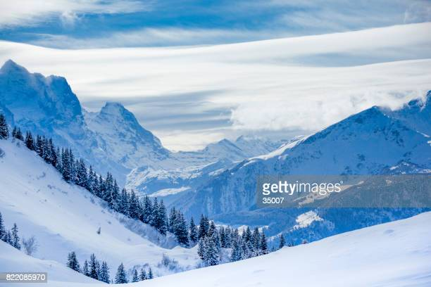 swiss alps mountain range - steep stock photos and pictures