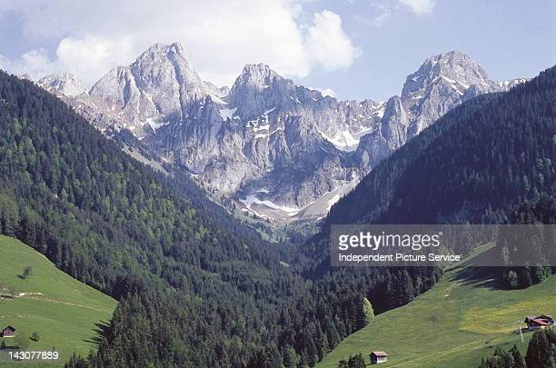 Swiss Alps near Rougemont Switzerland This photo was taken from the location called Chƒteaud'Oex near Rougemont and it shows the Gummfluh and the...