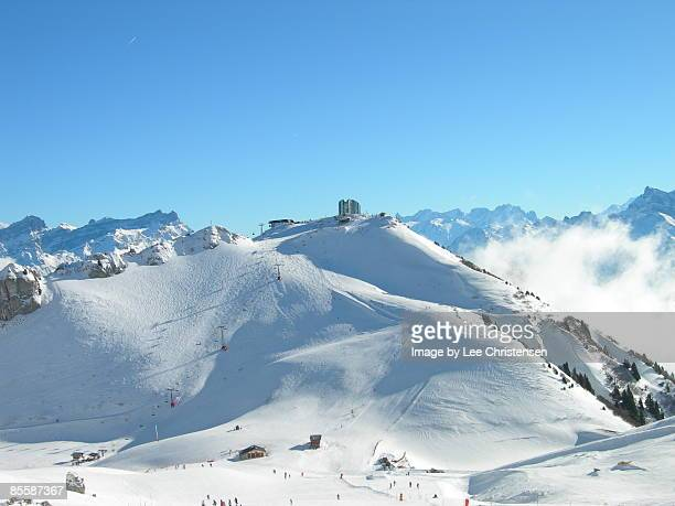 swiss alps - leysin stock photos and pictures