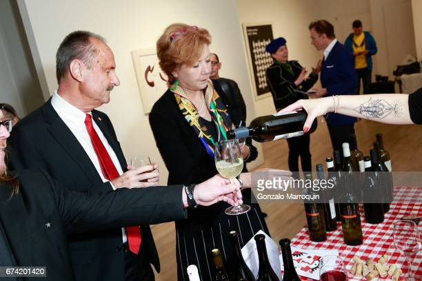 Swiss Ambassador Andre Schaller and his wife Brigitte attend the Swiss Wine Valais Loves New York hosted by Gregory de la Haba Billy The Artist...