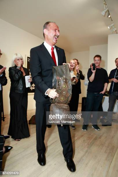 Swiss Ambassador Andre Schaller attends the Swiss Wine Valais Loves New York hosted by Gregory de la Haba Billy The Artist Anthony HadenGuest and...
