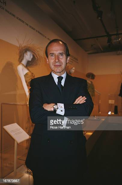 Swiss art auctioneer and collector Simon de Pury at the Manolo Blahnik Party being held at the Phillips de Pury Company Auction House circa 2000