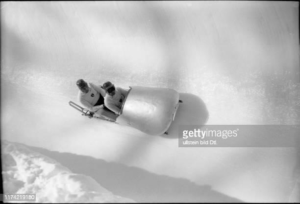 Swiss Bobsleigh Championship St Moritz 1950 Feierabend/Waser win