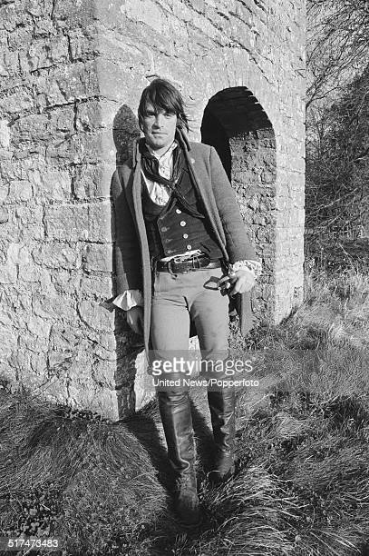 Swiss born actor Oliver Tobias pictured in character as Jack Vincent from the television drama series Smuggler on location on 18th December 1980