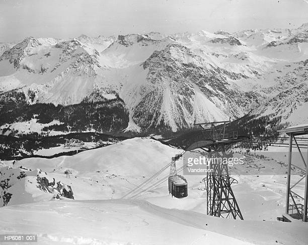 swiss cable car - 1950 1959 stock pictures, royalty-free photos & images