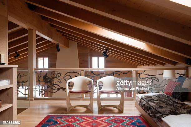 swiss chalet - gstaad stock pictures, royalty-free photos & images