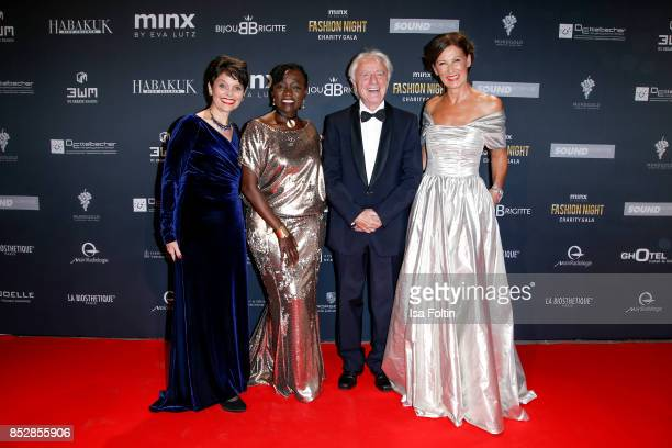 Swiss comedian Emil Steinberger and his wife Niccel Steinberger and Auma Obama halfsister of the former US president Barack Obama and Minx Designer...