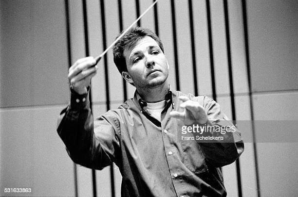 Swiss conductor Thierry Fischer on April 15th 1997 at a studio in Hilbersum, Netherlands.