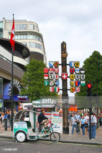 swiss court in london - gwengoat stock pictures, royalty-free photos & images