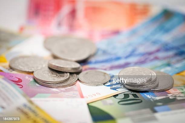 Schweizer Währung Münzen und Banknoten