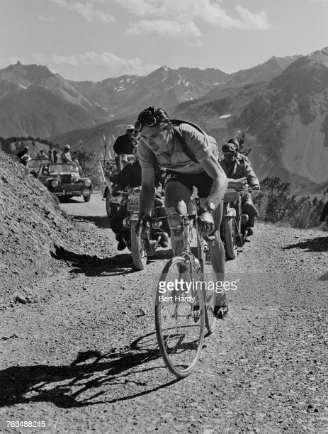 Swiss cyclist Hugo Koblet climbing a pass in the French Alps during the Tour de France July 1951 Koblet went on to win the tour Original publication...