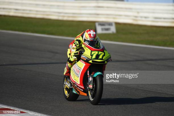 77 Swiss driver Dominique Aegerter of Team Kiefer Racing driving during warm up in Misano World Circuit Marco Simoncelli in Misano Adriatico for San...