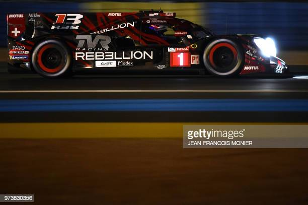Swiss' driver Neel Jani competes during the qualifying practice session of the 86th edition of the 24 Hours of Le Mans endurance race, on June 13 at...