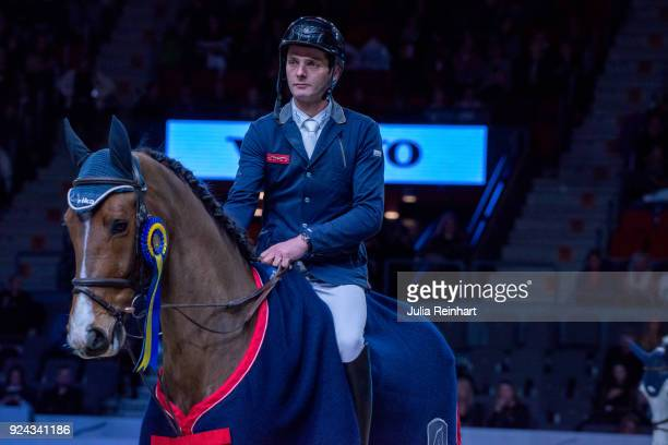 Swiss equestrian Werner Muff on Electric Touch wins the Accumulator Show Jumping Competition during the Gothenburg Horse Show in Scandinavium Arena...