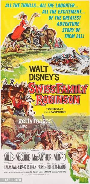 Swiss Family Robinson poster US poster art bottom right Janet Munro James MacArthur 1960