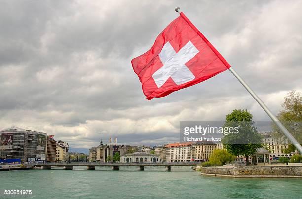 Swiss flag in Geneva