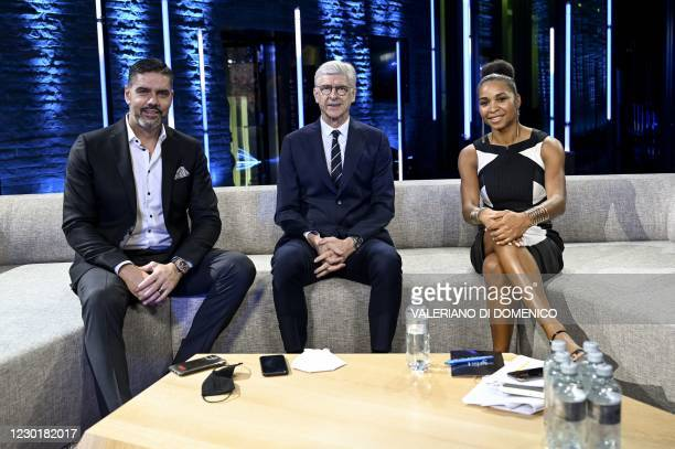 Swiss former goalkeeper Pascal Zuberbuhler, French coach Arsene Wenger and former French player and French Football Federation general secretary...