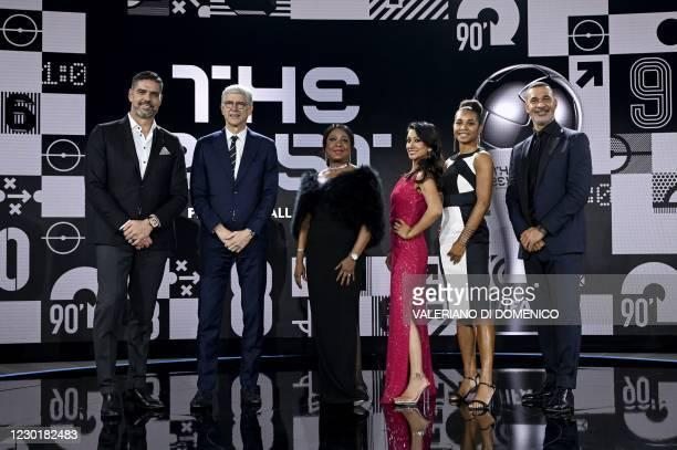 Swiss former goalkeeper Pascal Zuberbuhler, French coach Arsene Wenger, FIFA Secretary General Fatma Samba Diouf Samour, British sports journalist...