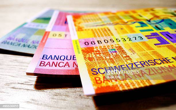 Swiss franc banknotes