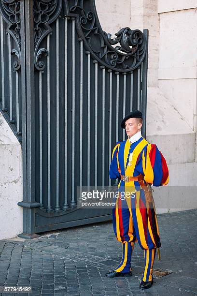 Swiss Guard at his post in the Vatican City State