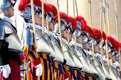vatican city vatican swiss guards attend