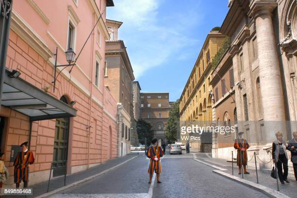 Swiss Guards on duty at the Vatican