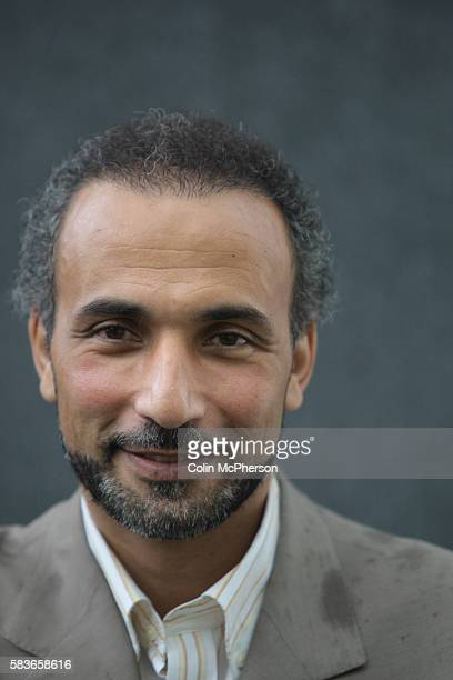 Swiss Muslim academic Tariq Ramadan pictured at the Edinburgh International Book Festival where he talked about his book entitled The Messenger The...