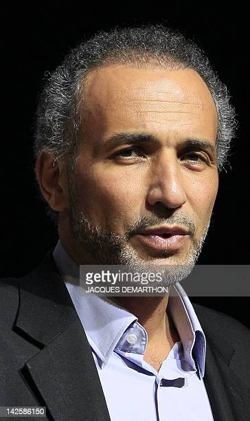 Swiss Muslim intellectual and professor Tariq Ramadan speaks during a meeting focused on 'Faith and Resistance Reform and Expectancy' at the yearly...