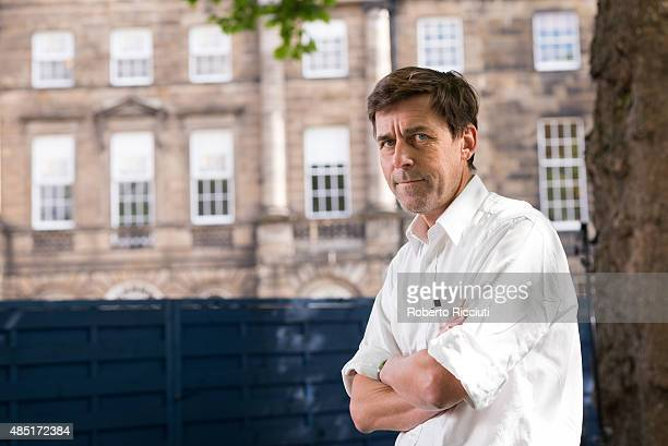 Swiss novelist Peter Stamm attends a photocall at Edinburgh International Book Festival on August 25 2015 in Edinburgh Scotland