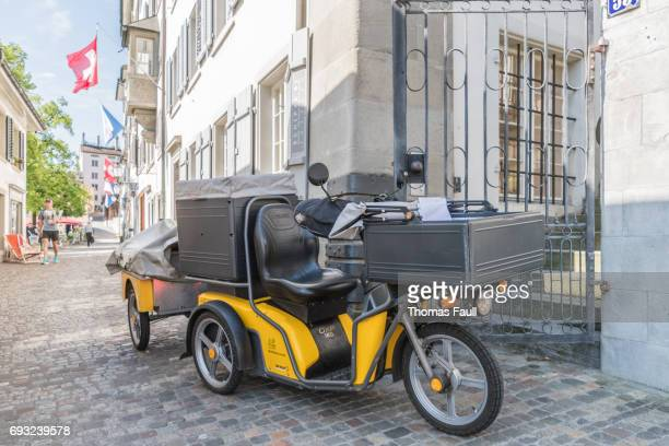 Swiss postal service tricycle bike