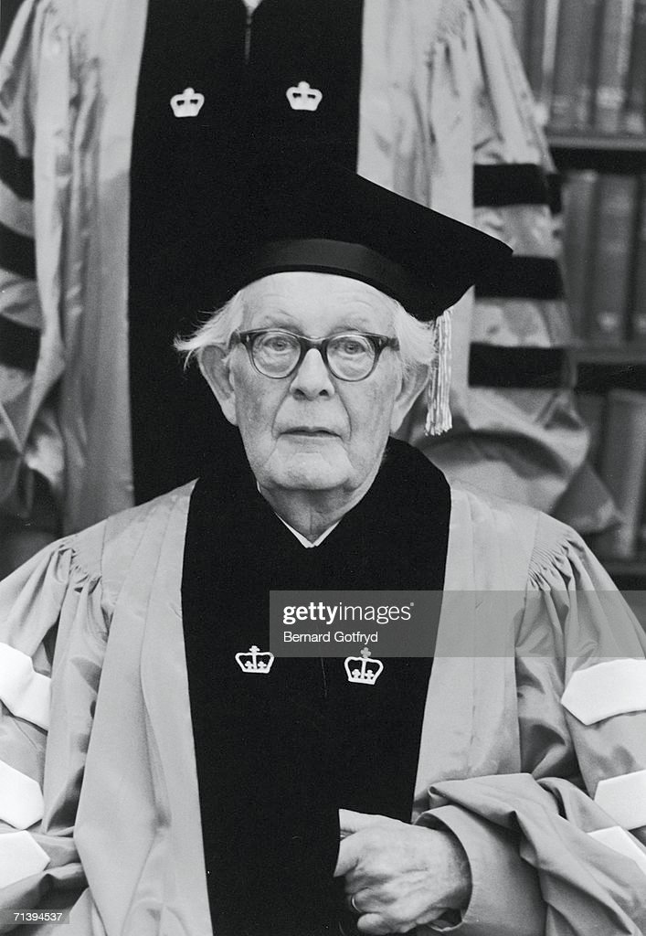 Jean Piaget Receives Degree From Columbia : News Photo
