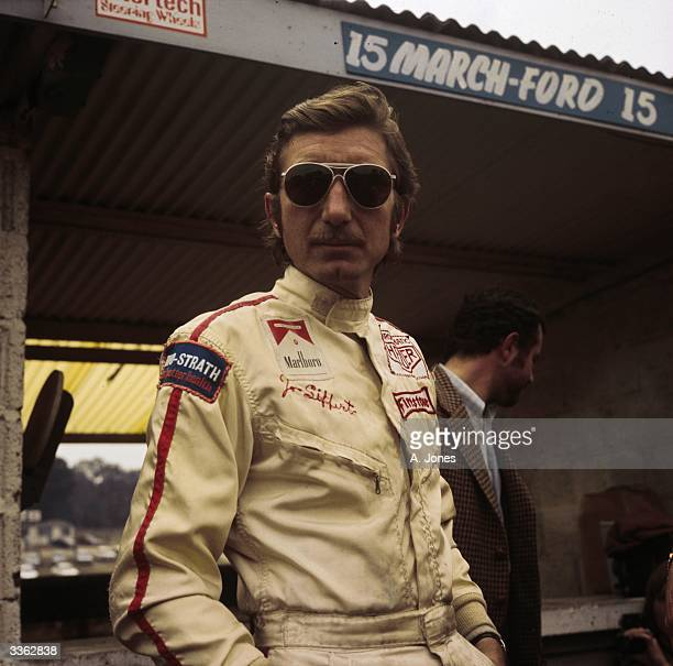 Swiss racing driver Jo Siffert at Brands Hatch for the 1970 British Grand Prix.