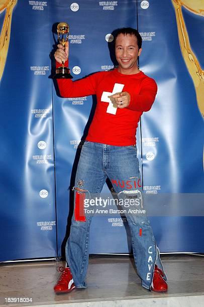 Swiss recording artist DJ Bobo during World Music Awards 2002 Press Room at MonteCarlo Sporting Club in MonteCarlo Monaco