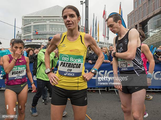 Swiss runner Patricia Morceli at the start of the 34th Frankfurt Marathon in Frankfurt Germany 25 October 2015 Ethiopian Sisay Lemma Kasaye won the...
