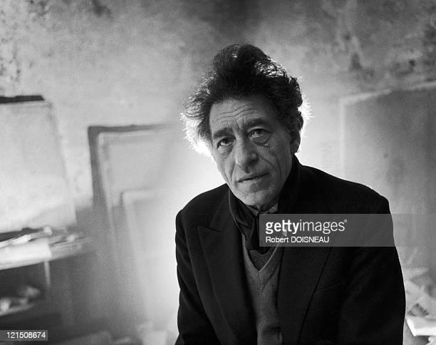 Swiss Sculptor Alberto Giacometti In 1957