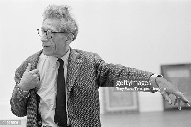 Swiss sculptor and painter Alberto Giacometti at the Tate Gallery London July 1965
