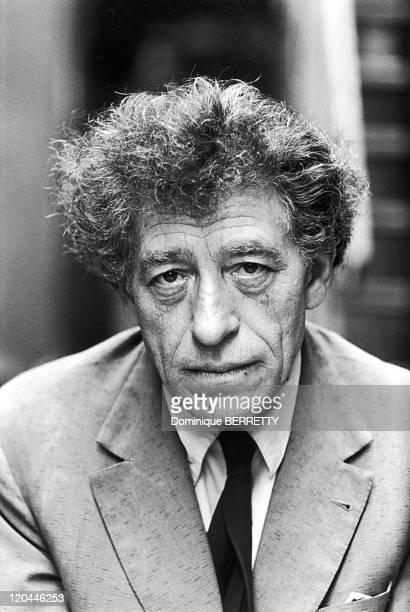 Swiss sculptor Giacometti in 1959