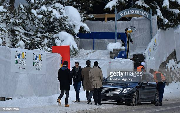 Swiss security forces take security measures prior to the 46th annual meeting of the World Economic Forum in Davos Switzerland on January 19 2016...