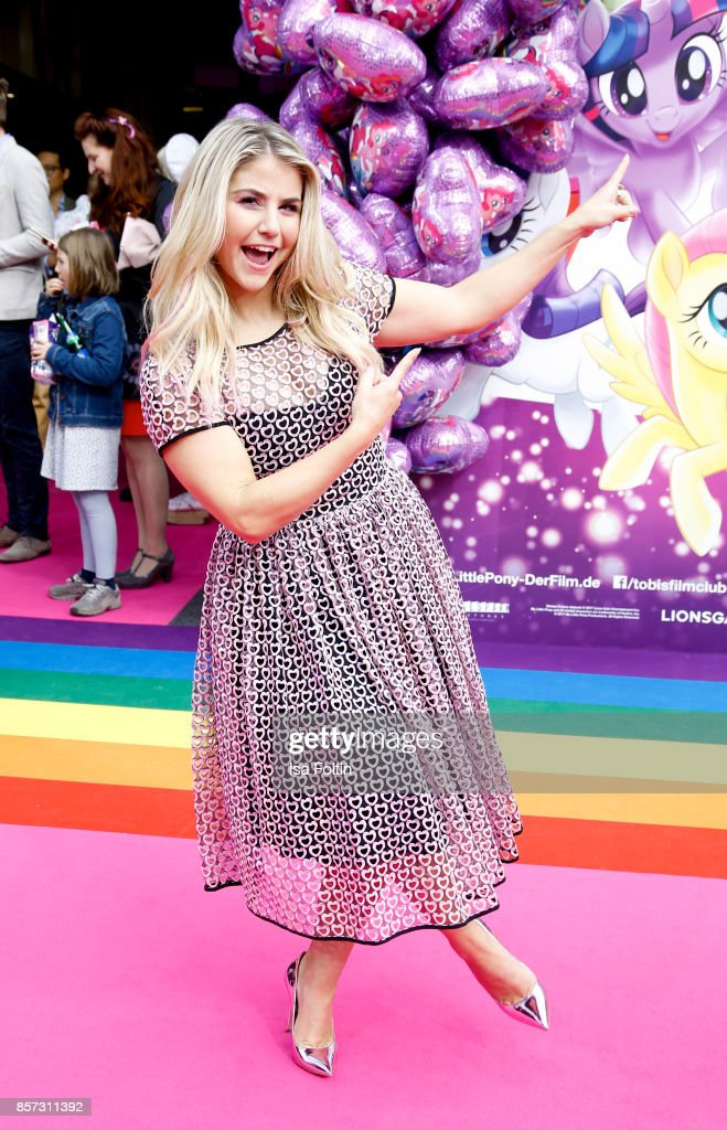 Swiss singer Beatrice Egli attends the 'My little Pony' Premiere at Zoo Palast on October 3, 2017 in Berlin, Germany.