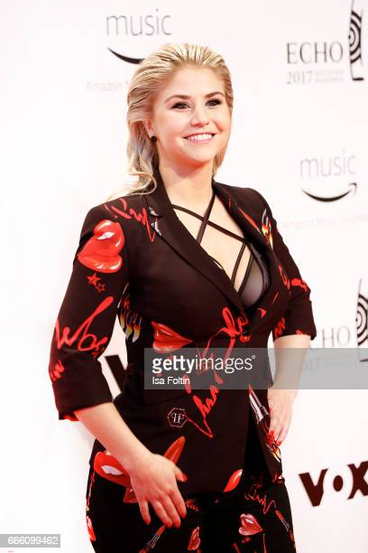 Swiss singer Beatrice Egli during the Echo award red carpet on April 6 2017 in Berlin Germany
