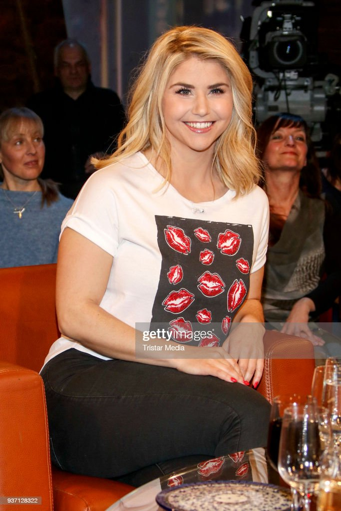 Swiss singer Beatrice Egli during the NDR Talk Show on March 23, 2018 in Hamburg, Germany.