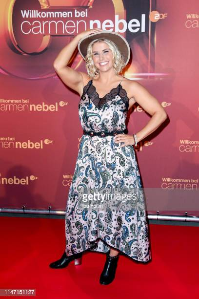 Swiss singer Beatrice Egli during the television show 'Willkommen bei Carmen Nebel' at Velodrom on May 4 2019 in Berlin Germany